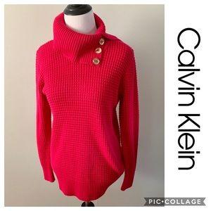 Calvin Klein sweater turtleneck pink medium Shirt